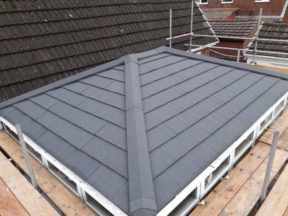 Brand new tiled roof