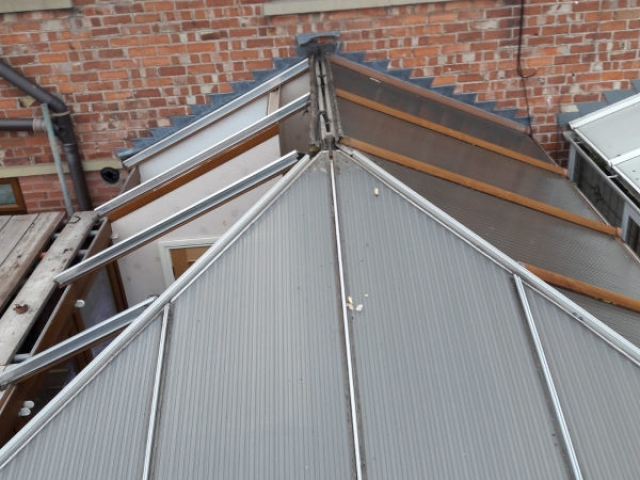 Old conservatory roof Fleetwood
