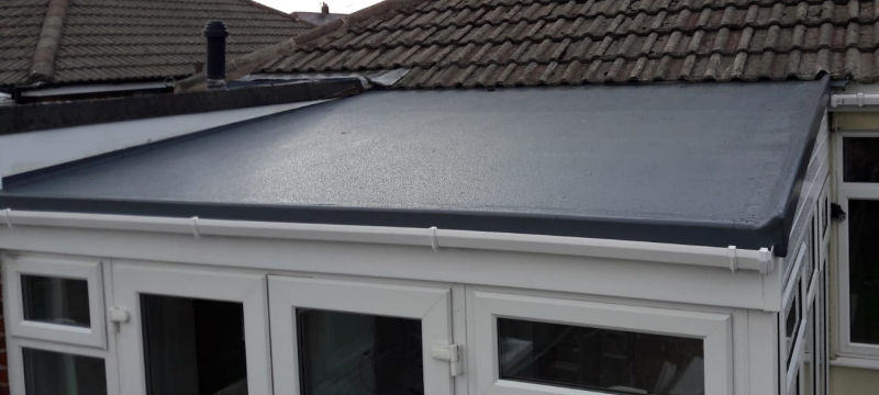New GRP fiber glass roof St. Annes