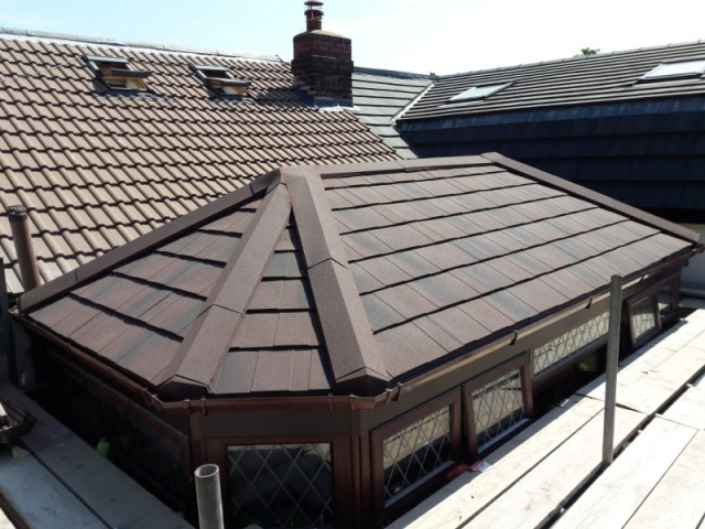 New replacement conservatory roof in Lancaster