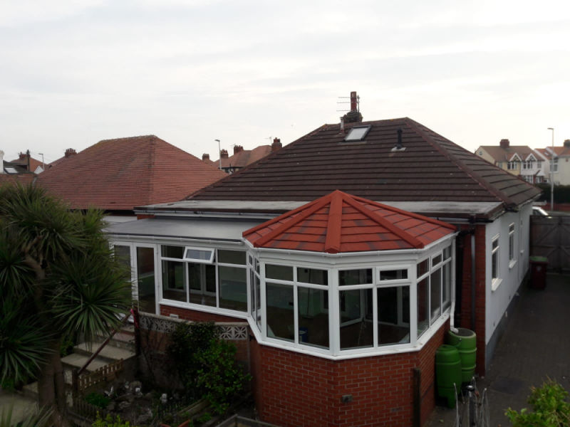 New Conservatory Tile Roof in Bispham