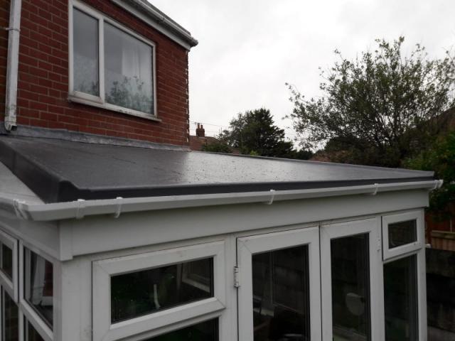 New GRP fibre glass roof