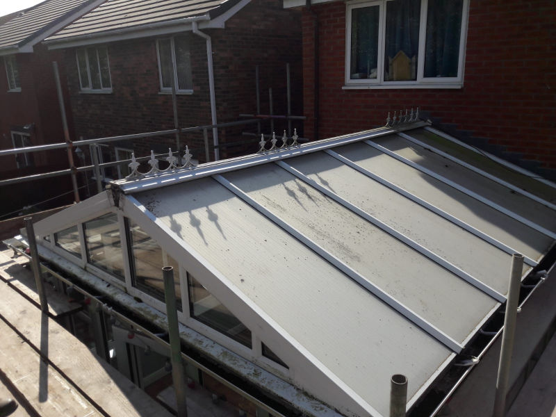 Old Conservatory Roof in Cleveleys