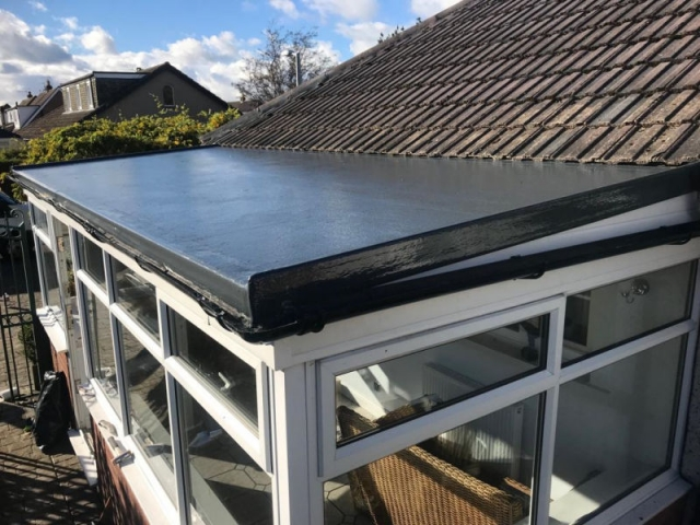 New GRP Fiberglass Roof in Garstang