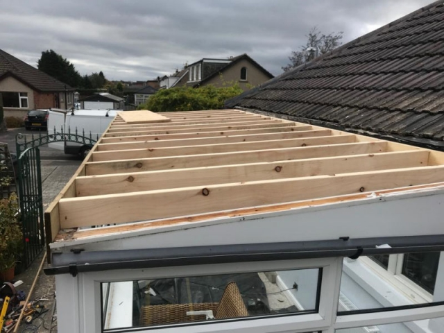 New roof being installed in Garstang