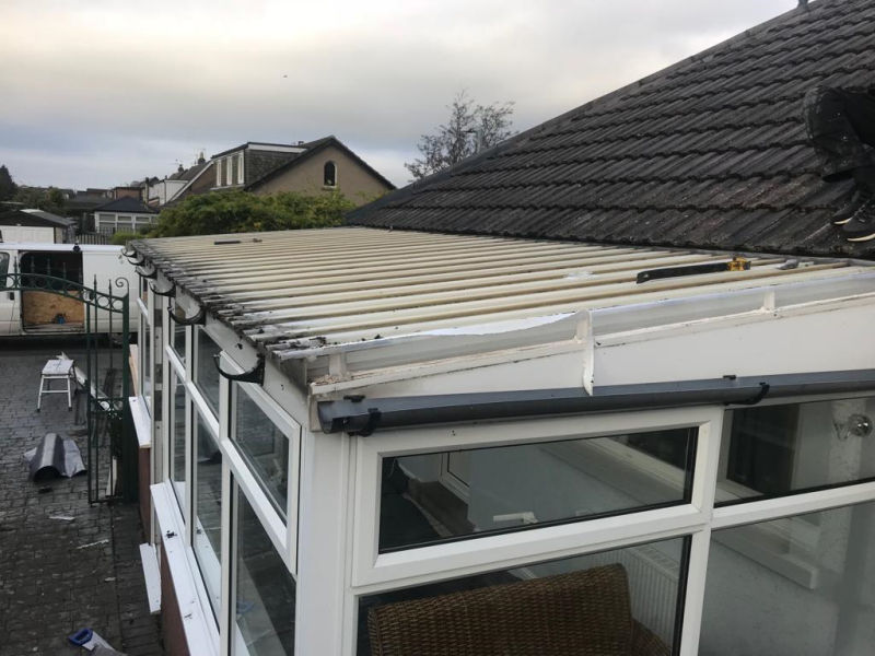 Old Conservatory Roof in Garstang