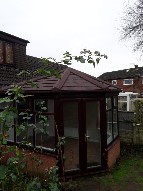 New conservatory roof in Poulton-Le-Fylde