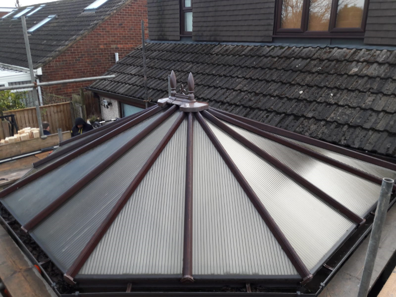 Old conservatory roof in Poulton-Le-Fylde