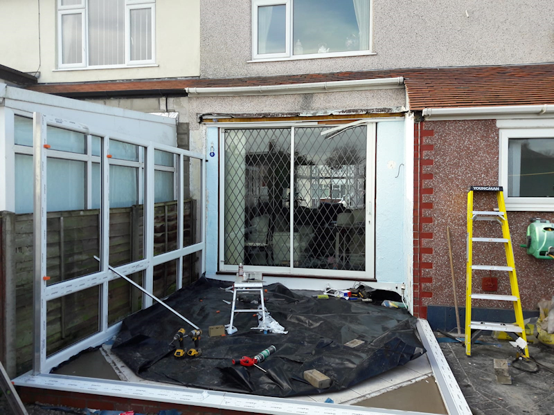 Old conservatory in Cleveleys