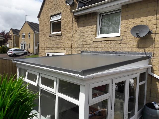 New Conservatory GRP Fibreglass Roof in Kirkham