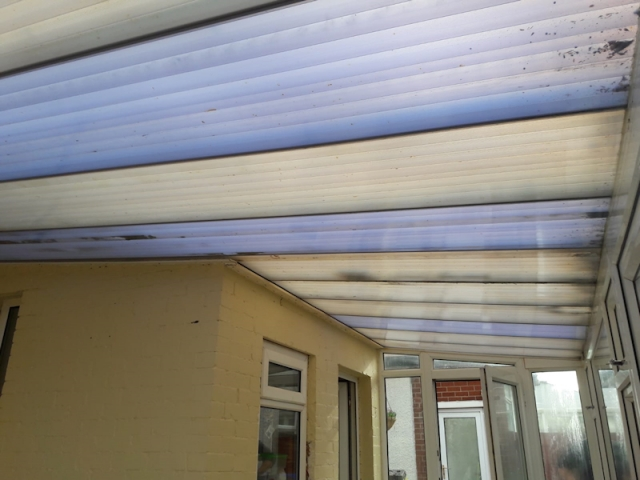 Old Internal Conservatory Roof