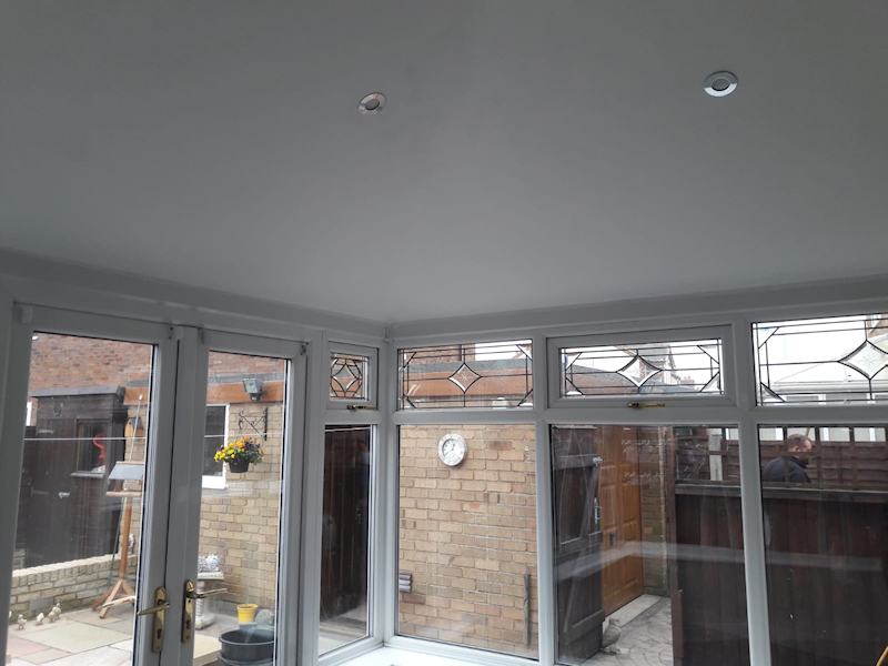 New internal conservatory roof