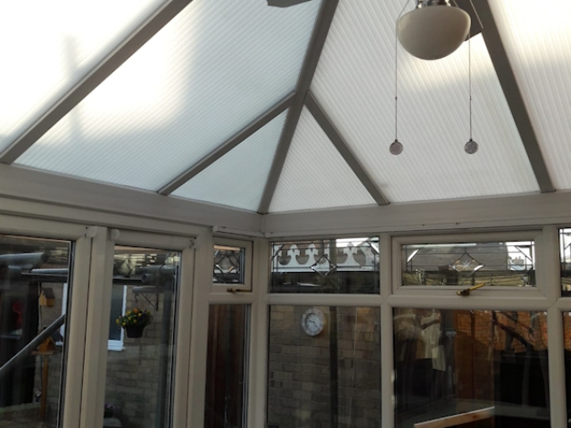 Old conservatory roof