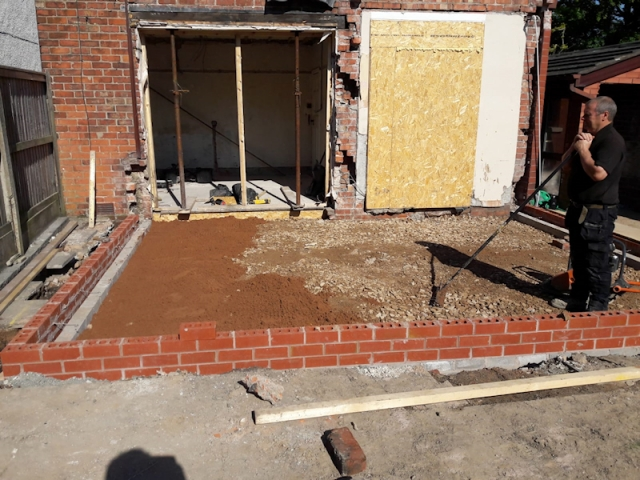 Work in Progress for new House Extension